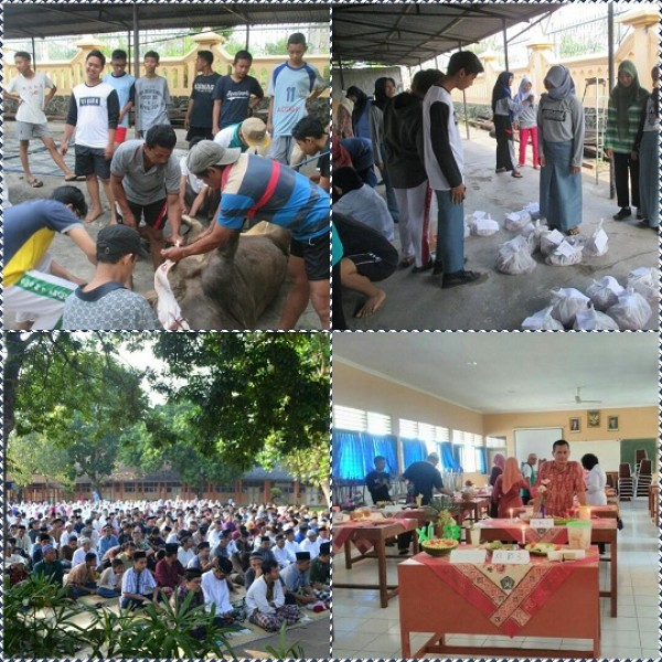 Perayaan Hari Raya Idul Adha Di SMA N 1 Prambanan
